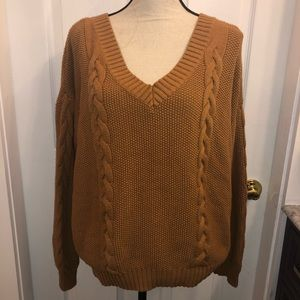 Honey Punch Sweater size S golden brown